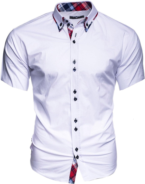 Kayhan Hombre Camisa Manga Corta Slim Fit S - 6XL - Uni, Hawaii