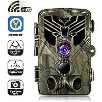 YJQMS 4G Trail Cam/éras de Chasse avec LTE et GPS Pleine cam/éra HD Game Cam Cam/éra 52 Wildlife Pcs LED IR 120 /° Grand Angle 12MP 1080P Cam/éra /étanche Chasse Infrarouge