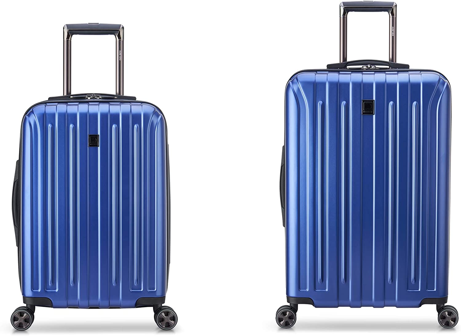 DELSEY Paris Titanium DLX Hardside Luggage with Spinner Wheels, Blue, 2-Piece Set (21/25)