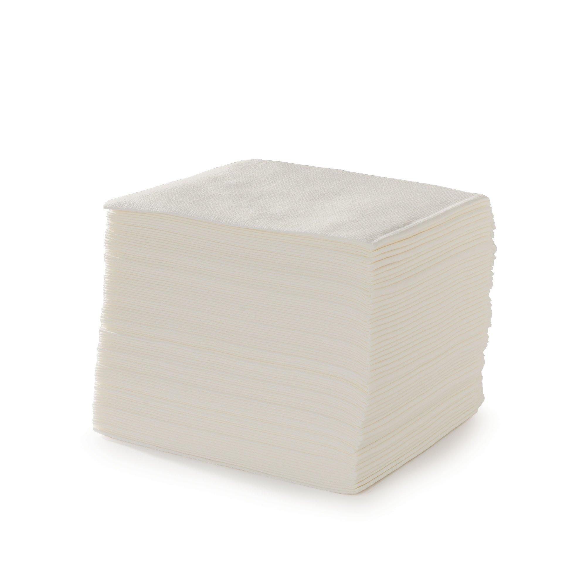 Disposable Washclothes, Airlaid, 12''x13'', White
