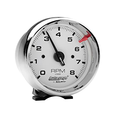 AUTO METER 2304 Autogage White Face Tachometer: Automotive