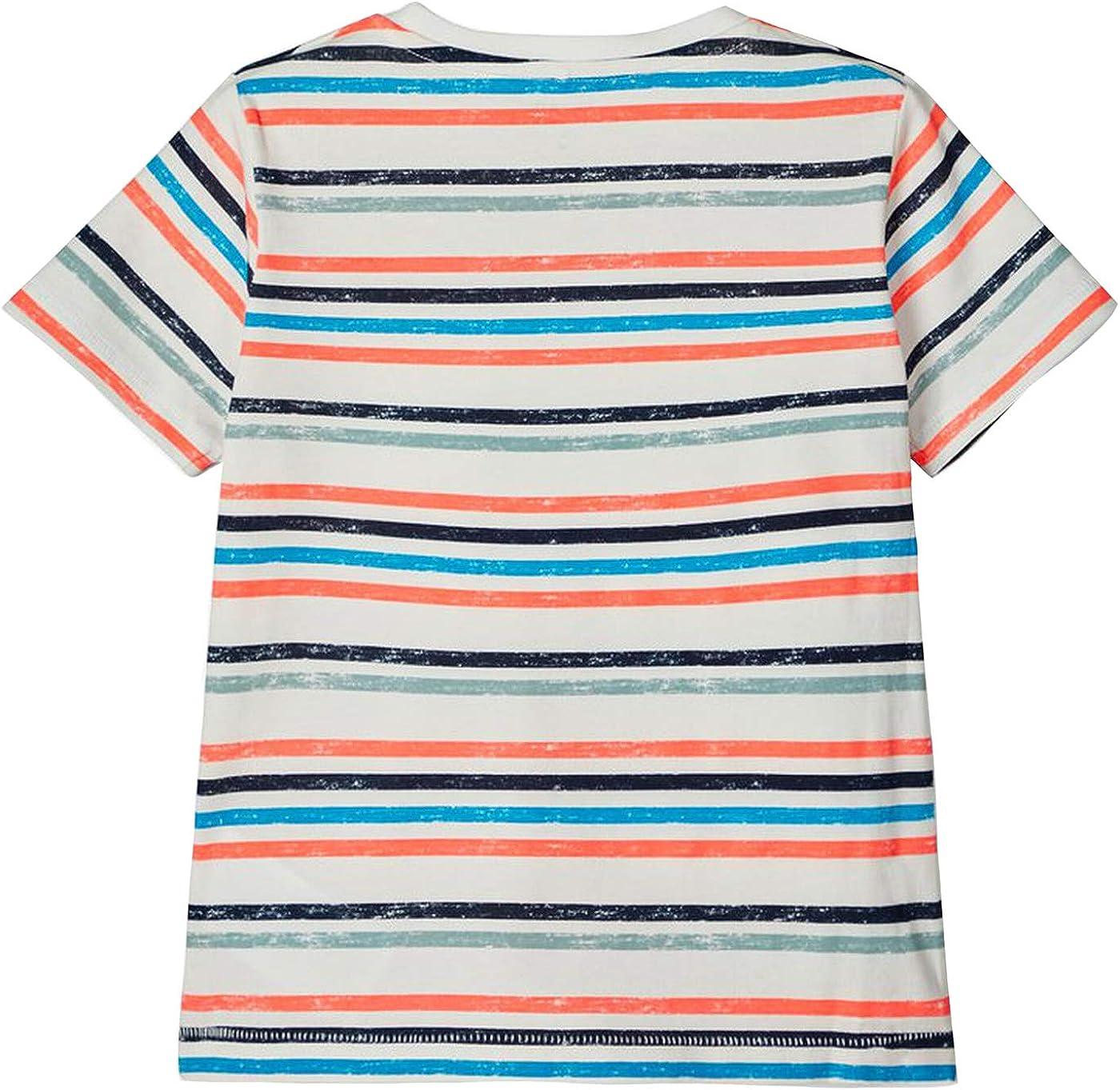 NAME IT Kinder NMMFINNO SS TOP T-Shirt aus Bio-Baumwolle mit Elastan