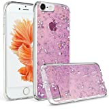 iPhone 6S Plus Case, Welity Luxury Chic Cute Art Ultra Slim Glitter Bling Sparkling Crystal Clear Snap On Soft Silicone Back Cover Case for Apple iPhone 6/6S Plus (Purple)