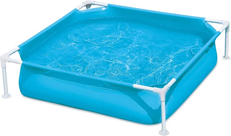 Amazon Com Summer Waves Small Plastic Frame 4ft X 4ft X 12in Kids Toddler Baby Kiddie Swimming Pool Blue Garden Outdoor