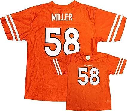 Von Miller Denver Broncos NFL Youth Orange Mesh Home Replica Jersey (Youth  Large 14- 1a5dd6cb7