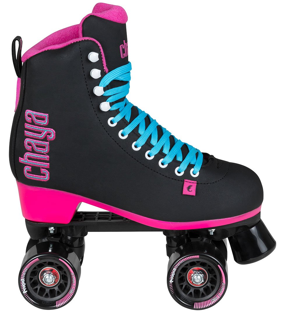 Chaya Melrose Black & Pink Quad Indoor/Outdoor Roller Skates (Euro 42/US 11) by Chaya (Image #2)