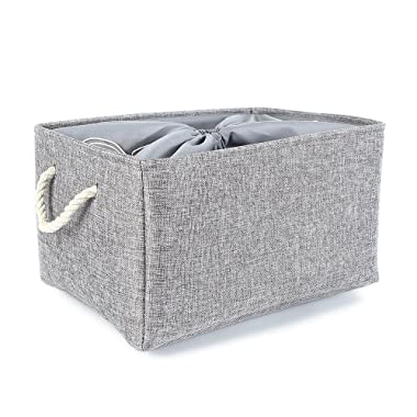TheWarmHome Foldable Linen Storage Bins for Home (17.7×13.8×9.8 inch)