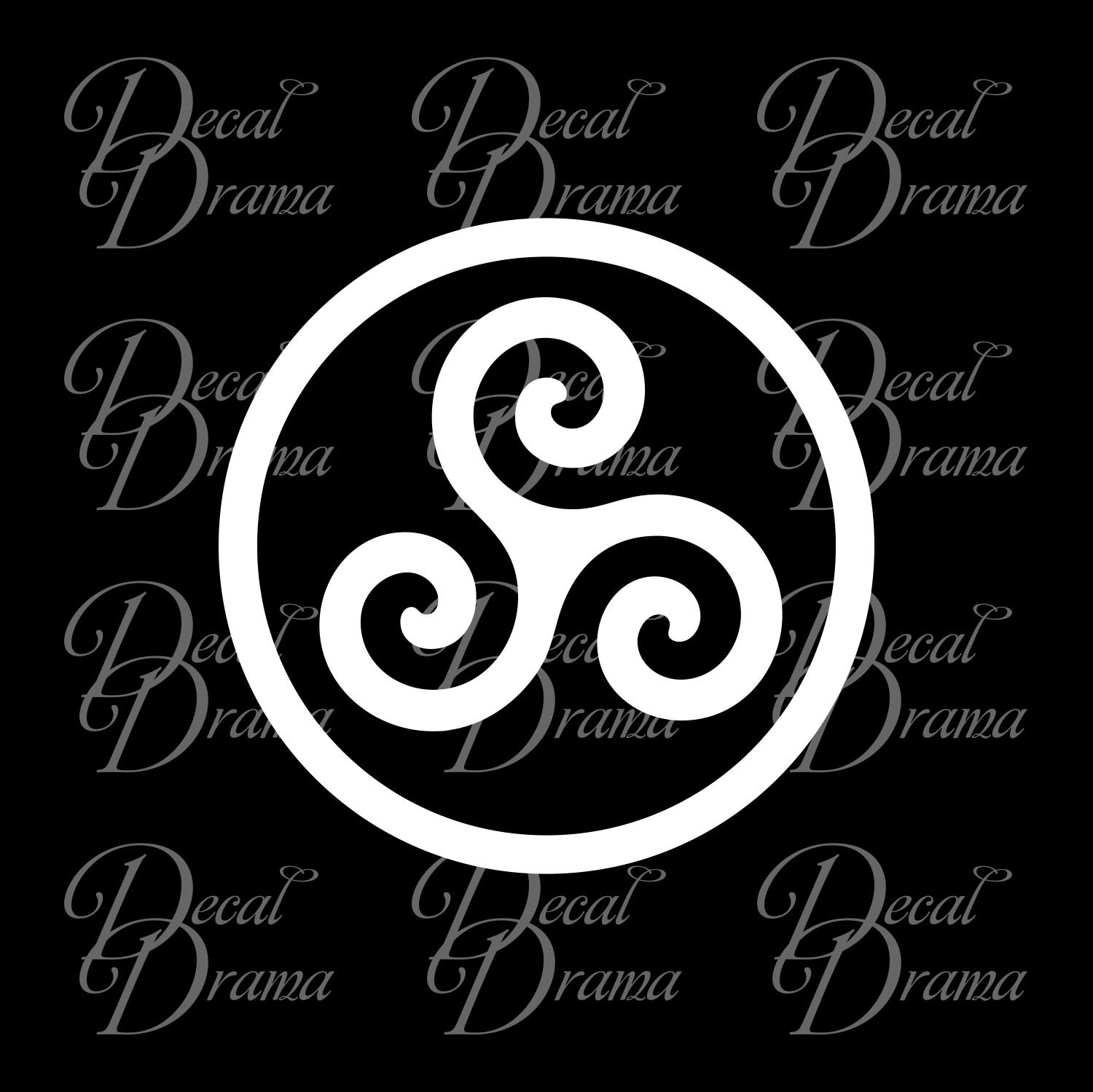 Amazon Merlin Inspired Druid Triskele Symbol Vinyl Car Decal