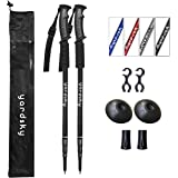 yardsky 2 Packs Hiking Poles Folding Collapsible Walking Sticks Alpenstocks Anti Shock Trekking Stick for Outdoors Travel Mountaineering Backpacking Climbing Sport