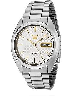 Seiko Mens SNXG47 Seiko 5 Automatic White Dial Stainless Steel Watch