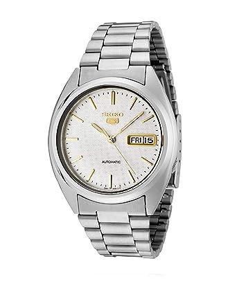 f6311536abe Amazon.com  Seiko Men s SNXG47 Seiko 5 Automatic White Dial Stainless Steel  Watch  Seiko  Watches