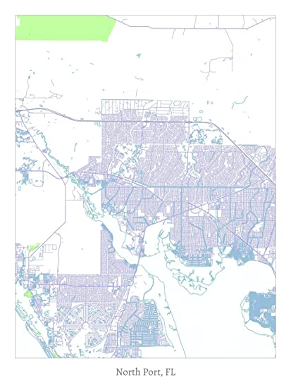 North Port Florida Map.Amazon Com North Port Fl Map Poster Posters Prints