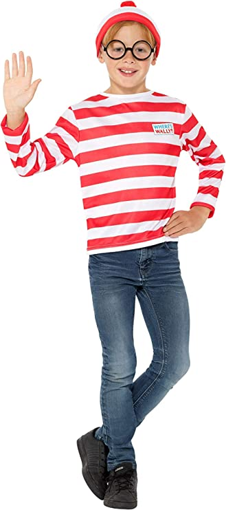 colla Rouge et blanc lunettes avec haut jupe Smiffys Licenciado oficialmente O/ù est Charlie/? Costume Wenda