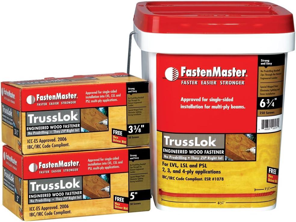 FastenMaster FlatLok 6 3//4quot Structural Wood Screw 50 pc Box