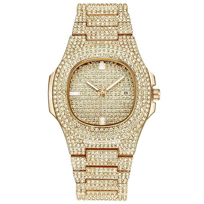 Coconano Relojes Pulsera Mujer, Reloj Británico de Moda Con Diamantes Llenos, Esfera de Cristal.: Amazon.es: Ropa y accesorios