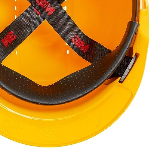 3M G3000CUV-GU - G3000 Casco amarillo, arnés estándar y banda sudor plástico: Amazon.es: Industria, empresas y ciencia