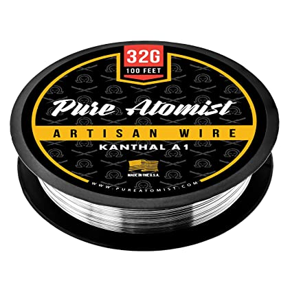 Amazon buy 32g 32 gauge kanthal a1 wire 100 roll 32 awg 32g 32 gauge kanthal a1 wire 100 roll 32 awg 020mm greentooth Image collections