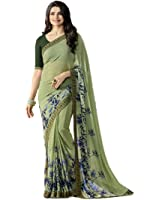 Macube Women's Georgette Saree With Blouse Piece (Ms1359_25_Multi Coloured)
