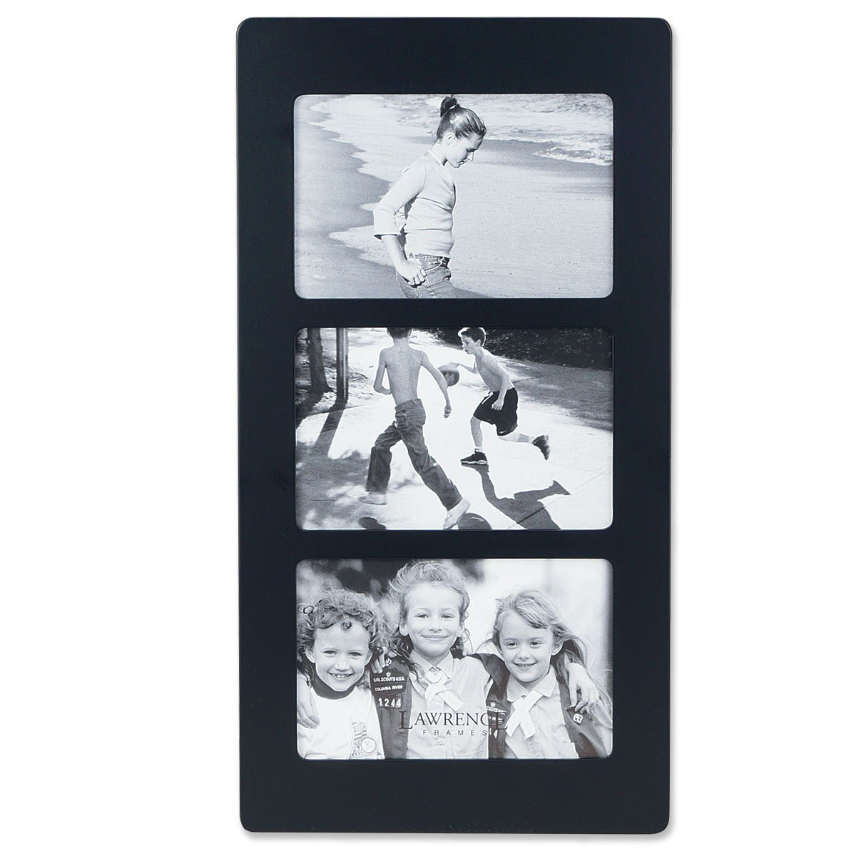 Amazon lawrence frames black wood 6x4 multi triple amazon lawrence frames black wood 6x4 multi triple horizontal picture frame triple photo frame jeuxipadfo Images
