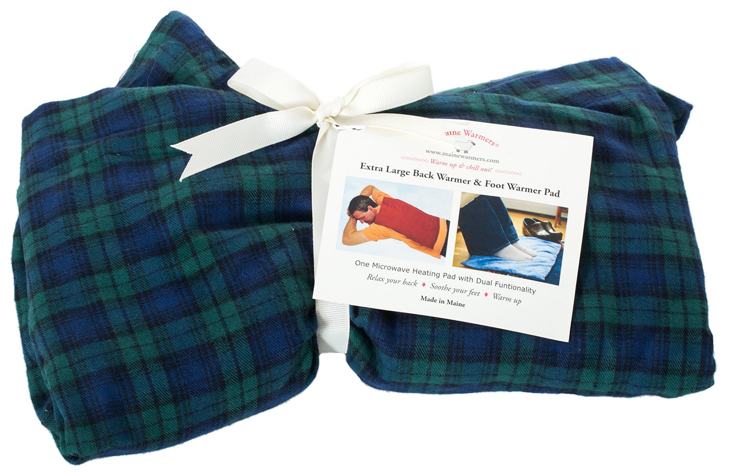 Extra Large Maine Warmers Microwave Heating Pad for the Back - Corn Filled Heating Pad - Heat or Freeze!