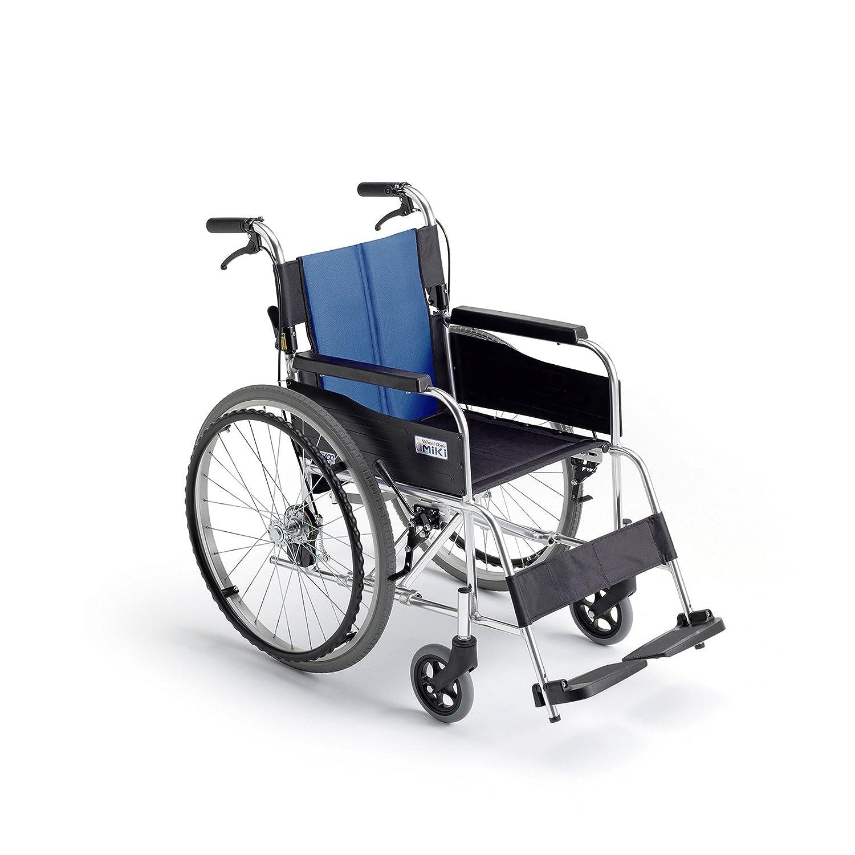 ミキ BAL-1 標準型 自走型車いす ブルー(A-2)ナイロン 40 B06XNVSHHH