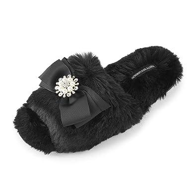 549c5e22a13 Pretty You London Womens Slider Anya - Black  Amazon.co.uk  Shoes   Bags