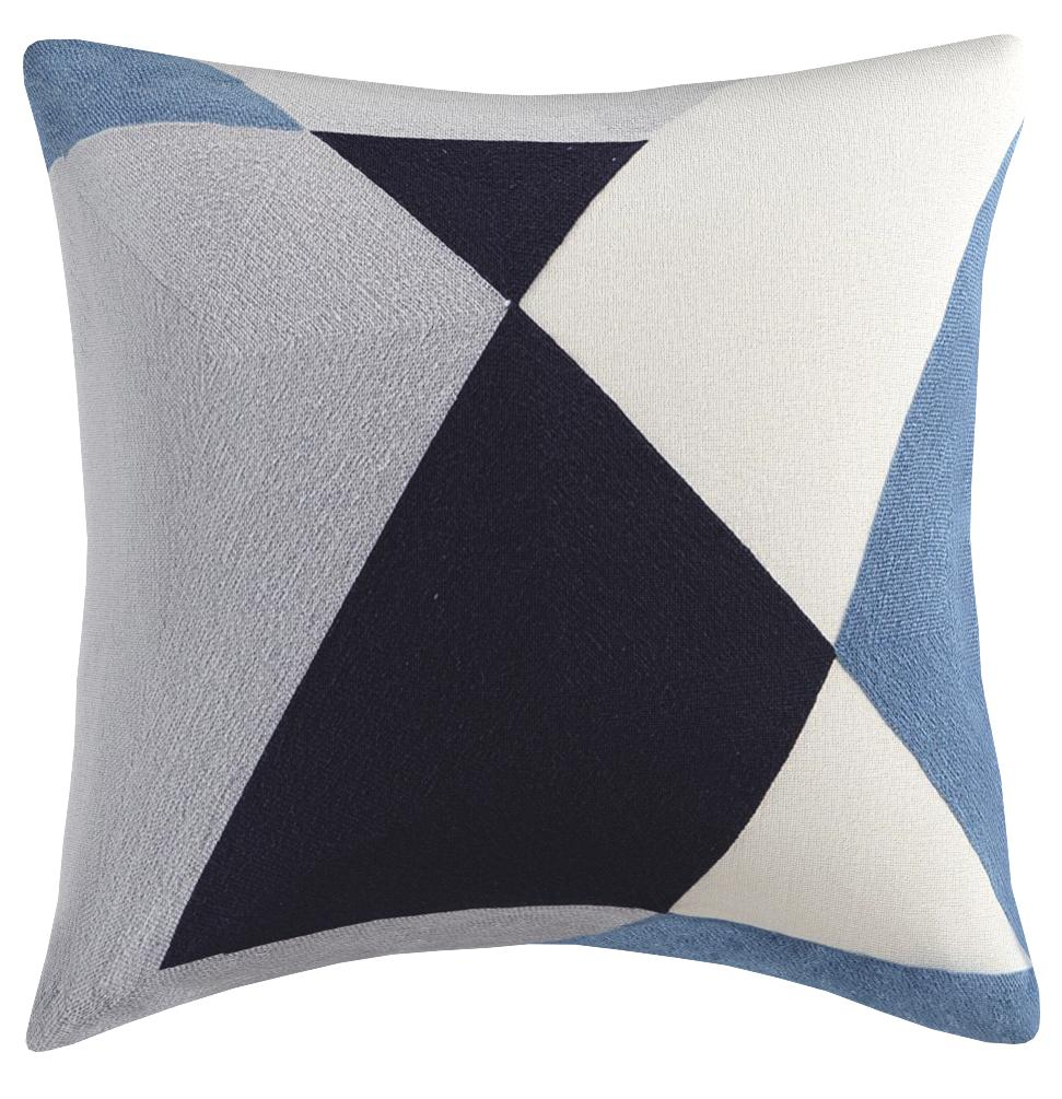 Ink Ivy Aero Cotton Decorative Pillow Mid Century Modern Abstract Geometric Design Feather And Down Filled Sofa Cushion Lumbar Back Support 20x20 Blue Home Kitchen