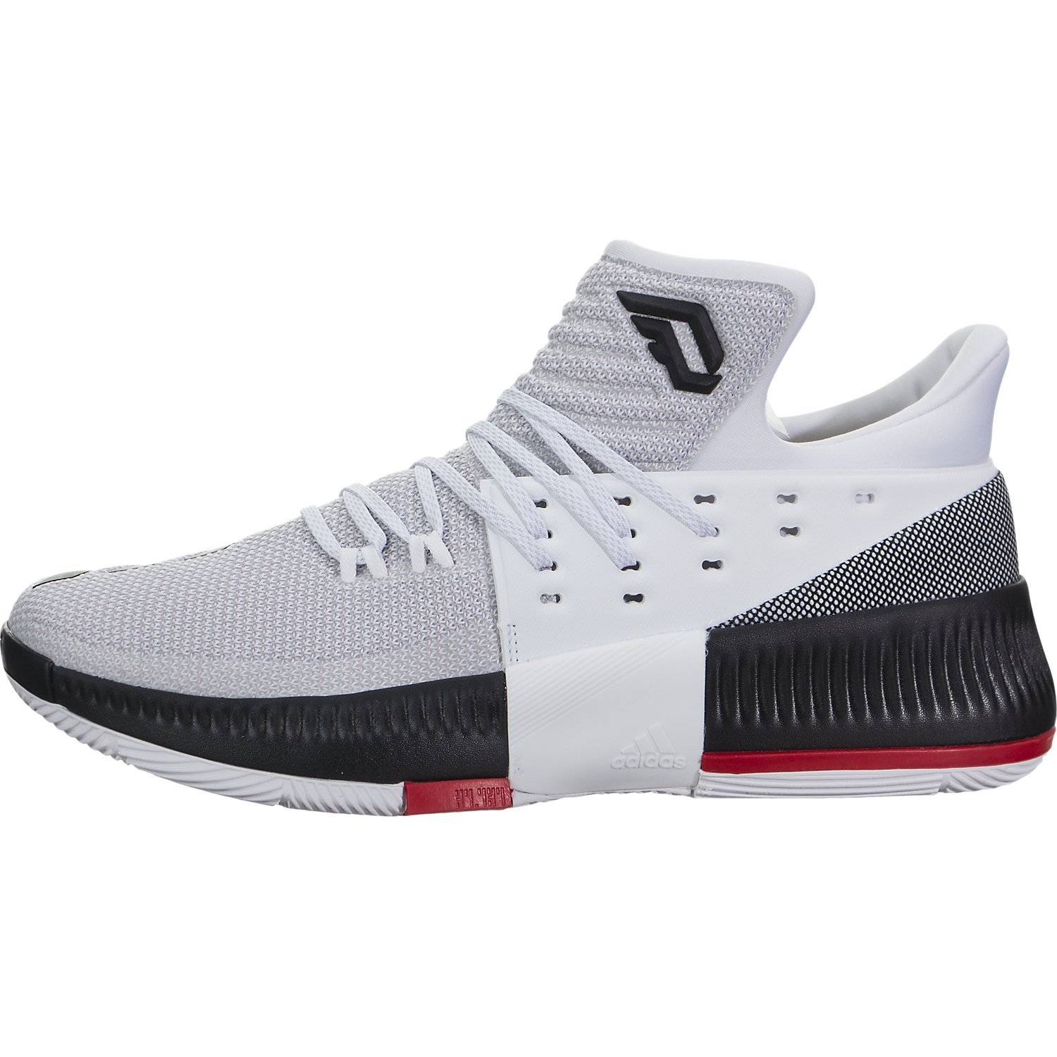reputable site ce303 df922 Galleon - Adidas Dame 3 White Black Red Basketball Shoes 12