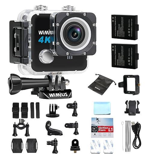 35 opinioni per Action Cam, WiMiUS L1 4K Action Sport Camera HD 20MP WIFI, Fotocamera Subacquea