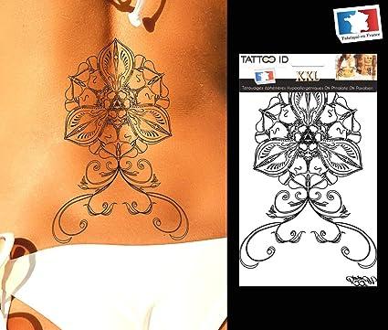 Tattoo ID XXL flor Orchidee flor Lotus Tatuajes gran formato ...