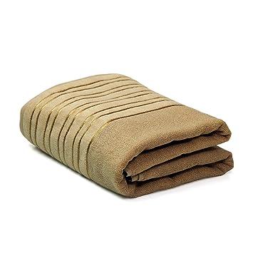 Toalla de baño línea Faja - 100% algodón - Medidas 90 x 150 cm - Peso 500 gr/m2 - Color beige: Amazon.es: Hogar