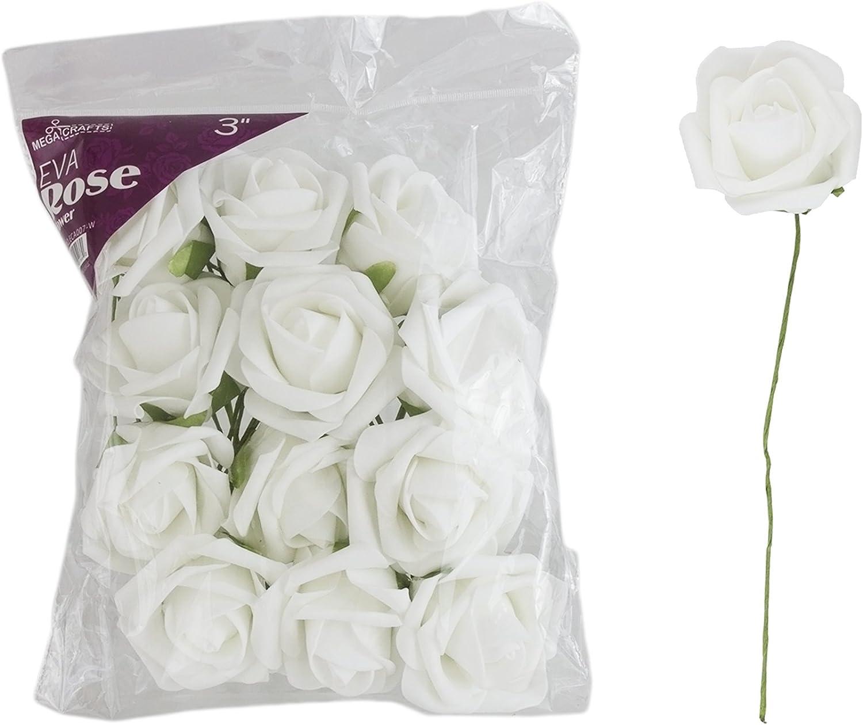 white white lilies foam EVA Hair comb foam flowers hand made