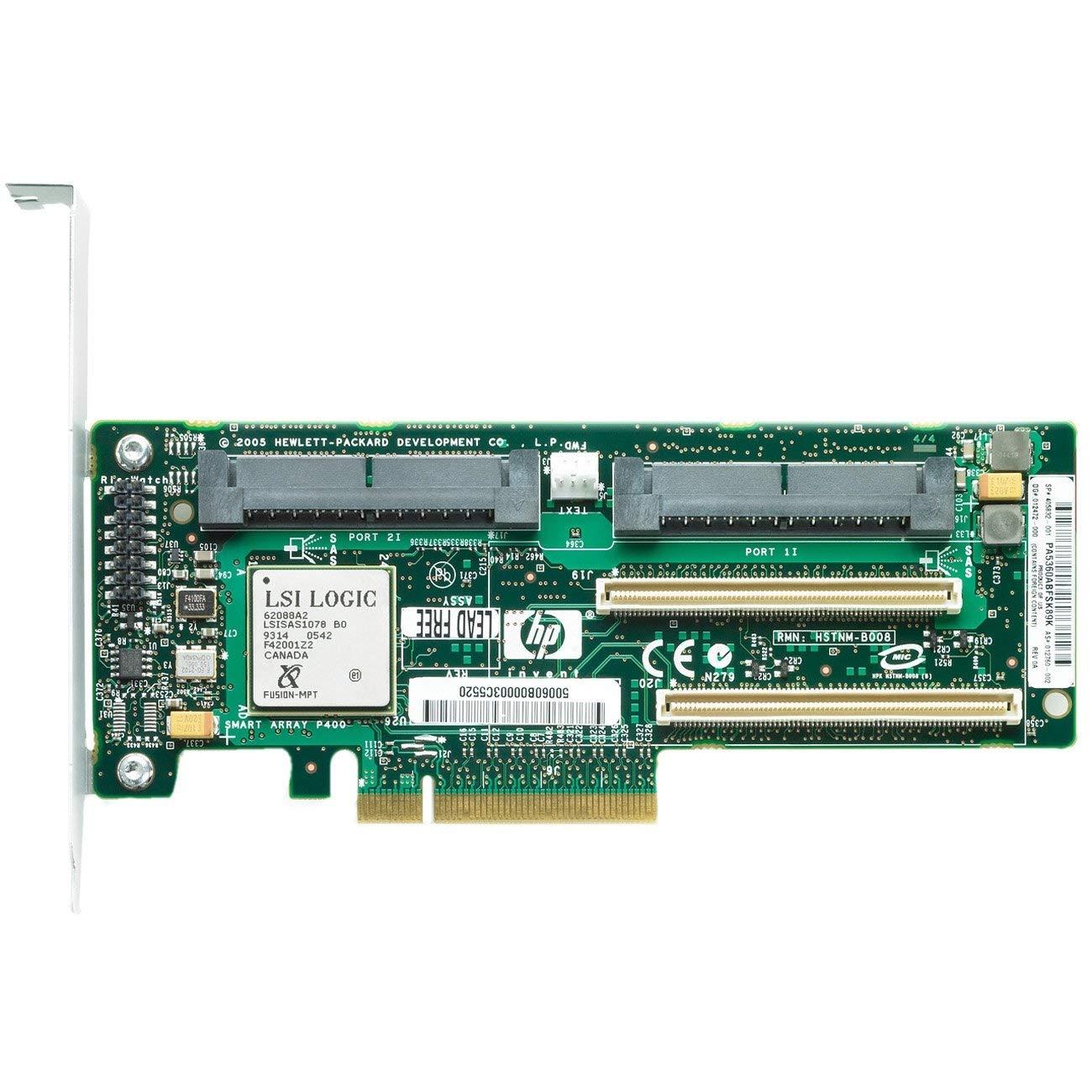 HP 405132-B21 HP SMART ARRAY P400 SAS SERIAL ATTACHED SCSI PCI-E RAID STORAGE (405132B21) (Renewed) by HP