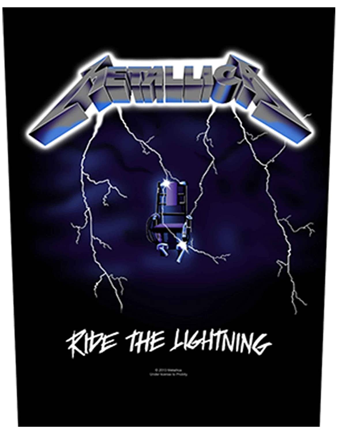Metallica Back Patch Ride The Lightning Official New Black Woven (36cm x 29cm)