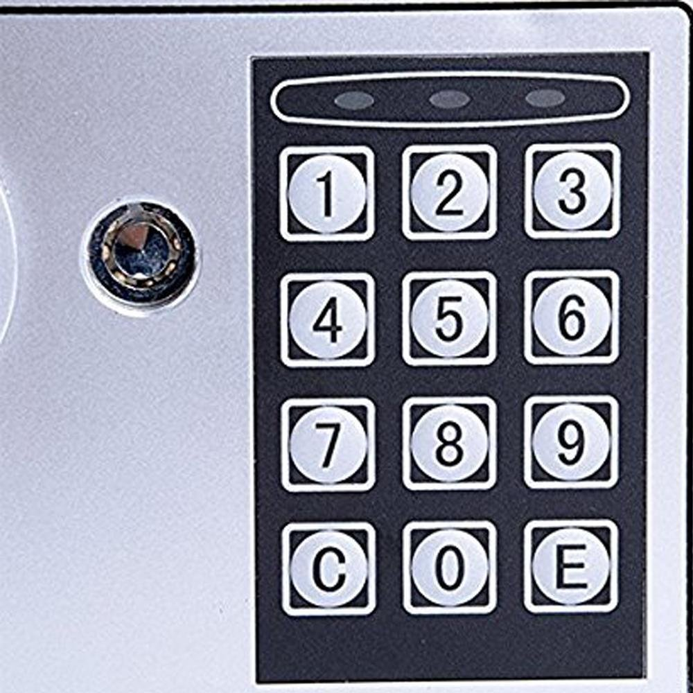 Benlet Black Digital Electronic Safe Security Box Wall for Jewelry Cash Valuable for Home & Office