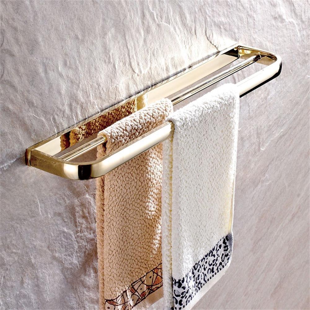 家庭の照明 すべての銅単一のペンダントアンティークミニマ浴室のタオルバーダブルロッド長くぶら下げタオルバーの浴室のタオルラック吊り ( 色 : Zirconium Gold ) B071XT8GHX  Zirconium Gold