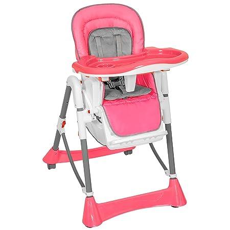 TecTake Trona para niños con bandeja y bebés rosa de altura regulable: Amazon.es: Bebé