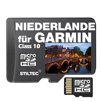 Netherlands Topo GPS Map Garmin Height Lines 4GB MicroSD