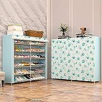 Shoe cabinet storage large capacity home furniture DIY simple 12 Grid women boots shoe rack (Starfish)