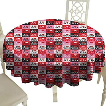 Amazon.com: BarronTextile I Love You Patterned Tablecloth ...