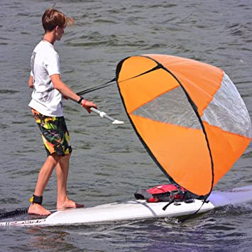 "Blue 42/"" Inch Scout Wind Paddle Popup Board Kayak Sail Kit Wind Fold Up Sail"