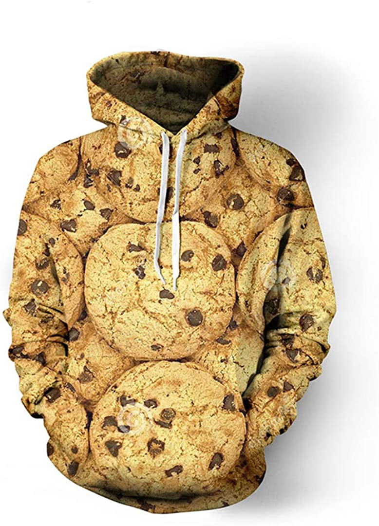 Rtiyslva Cookies Food 3D All Over Printed Hoodies Casual Hipster Kid Men Women Sweatshirt