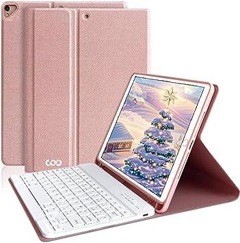 AMZCASE - Teclado para iPad 10.2 2019/iPad 10.5, Desmontable Teclado Bluetooth inalámbrico para iPad 10.2 Pulgadas, 7ª generación, iPad Pro 10.5 ...