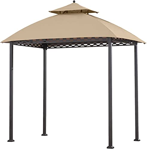 Garden Winds Replacement Canopy for The Pinehurst Grill Gazebo – Riplock 350 – Beige