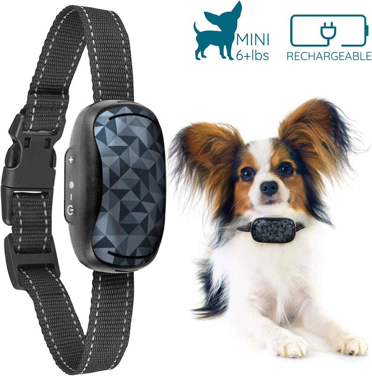 GoodBoy Small Rechargeable Dog Bark Collar for Tiny to Medium Dogs Weatherproof and Vibrating Anti Bark Training Device That is Smallest Most Safe On Amazon – No Shock No Spiky Prongs 6 lbs
