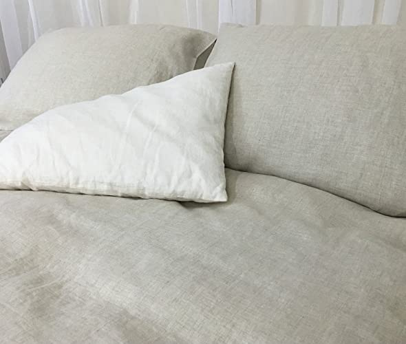 Amazon.com: Natural Linen Duvet Cover, Natural Linen Bedding ... : linen quilt king - Adamdwight.com