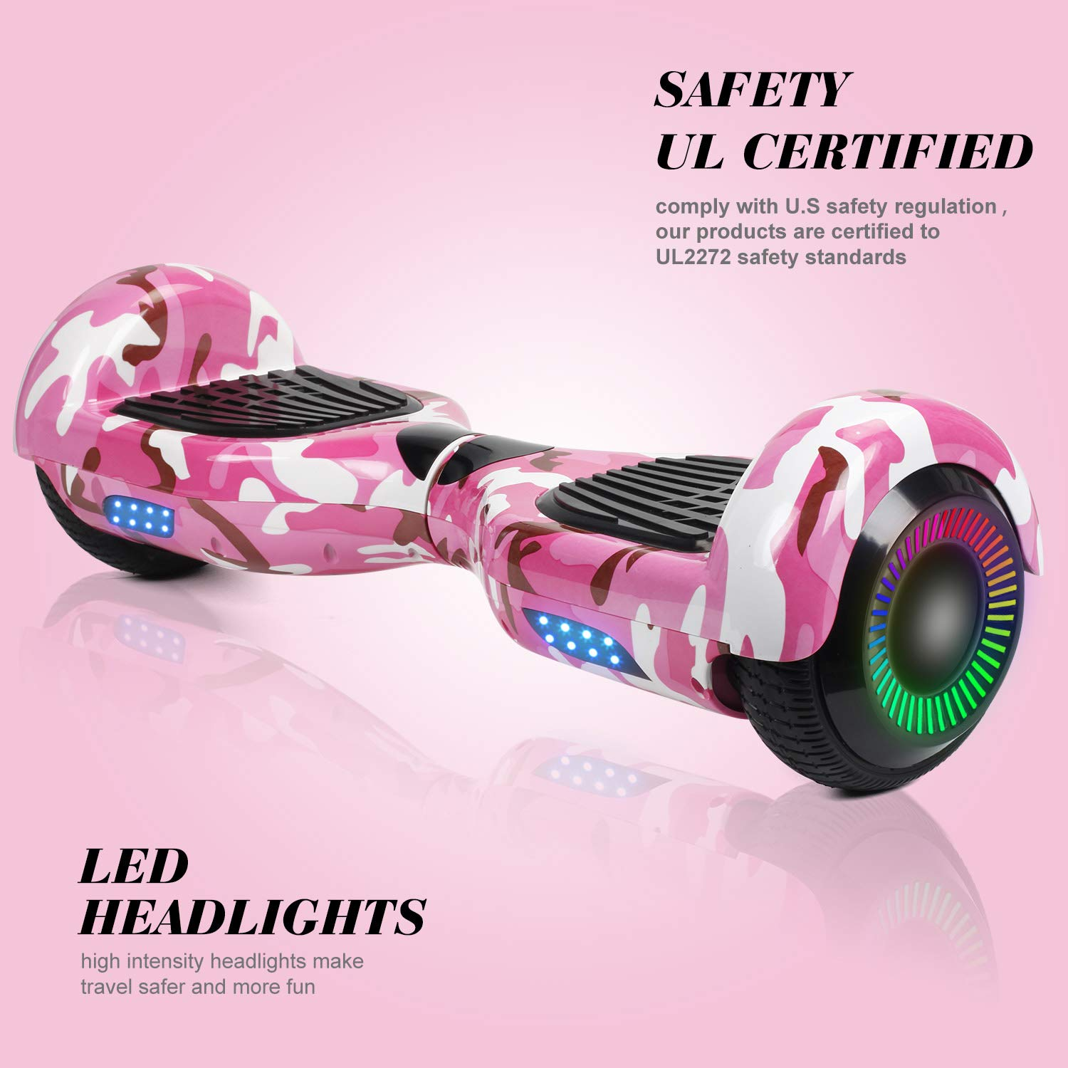 SWEETBUY Hoverboard Two-Wheel Self Balancing Electric Scooter UL 2272 Certified,6.5 inch Self Balancing Scooter with Carry Bag(Blue) by SWEETBUY (Image #3)