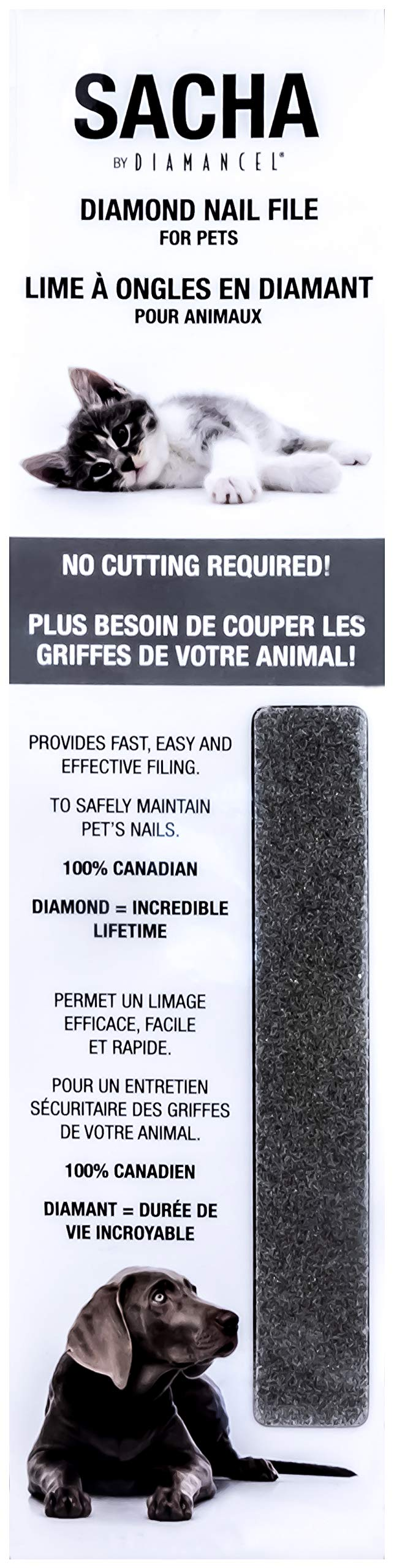 Diamancel - Sacha Nail File for Pets - for Regular Maintenance of Your Pet's Nails Between Groomings