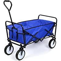 Homfa Transportkarre faltbar Bollerwagen Gerätewagen Handwagen bis 80 Kg 360° drehbar