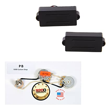 Amazon.com: DiMarzio DP127BK Split P P-B Pickups + 920D P B ... on dimarzio single coil wiring diagram, dimarzio strat wiring diagram, dimarzio super distortion wiring-diagram, dimarzio wiring 3-way switch guitar,